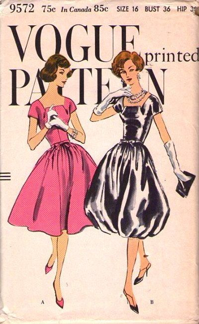 Vintage Vogue Sewing Pattern 9572 | Sewing | Pinterest | Vorlagen ...