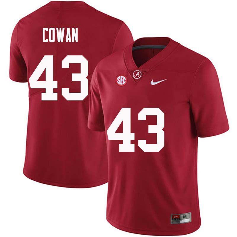 30e3c0393 Men  43 VanDarius Cowan Alabama Crimson Tide College Football Jerseys Sale- Crimson