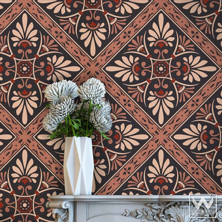 Removable Wallpaper Tiles mediterranean tile removable wallpaper | mural wall art, mural