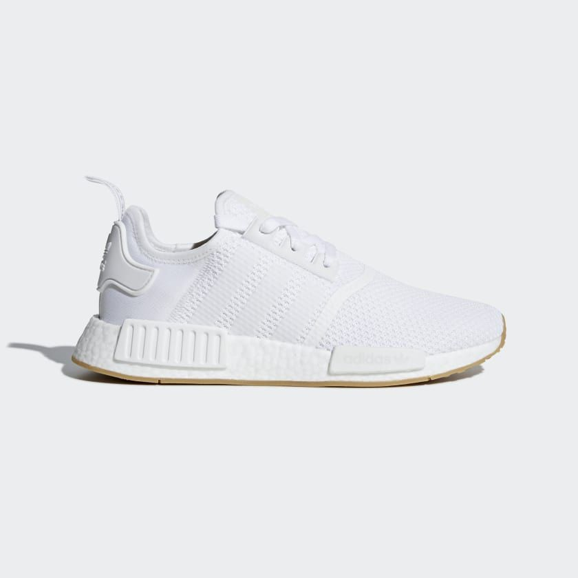 NMD_R1 Shoes White Mens | Adidas nmd r1, White addidas shoes