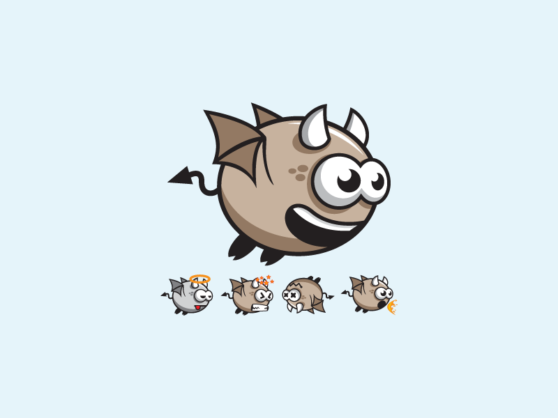 Cute Flying Devil Evil Game Character Sprite Sheet