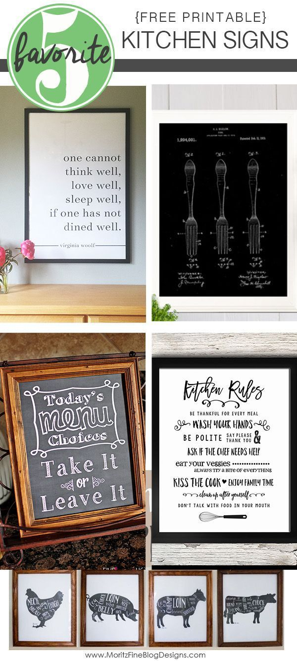 Is your kitchen drab and need a little pick-me-up, a simple conversation piece? These Free diy Printable Kitchen Signs are the key to spice up your home kitchen.