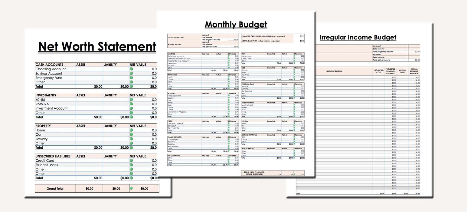 Budget Spreadsheets For Creating A Monthly Budget Tracking Your Net