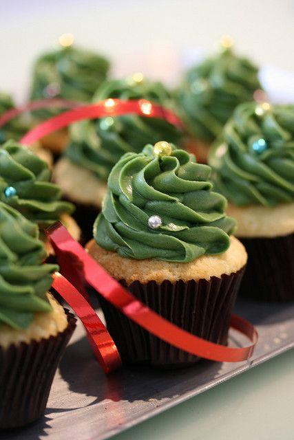 Sugadeaux Mini Xmas Trees Christmas Tree Cupcakes Tree Cakes And