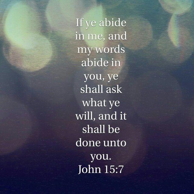Image result for John 15:7 kjv