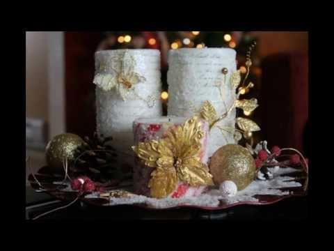 Decoracion de navidad con botellas de vidrio youtube - Youtube centros de mesa navidenos ...