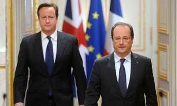 Hollande e Cameron se reúnem em Paris hoje, para se preparar para encontro da UE