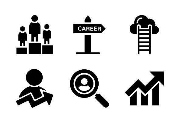 Job Promotion Icons By Vectors Market Job Promotion Job Icon