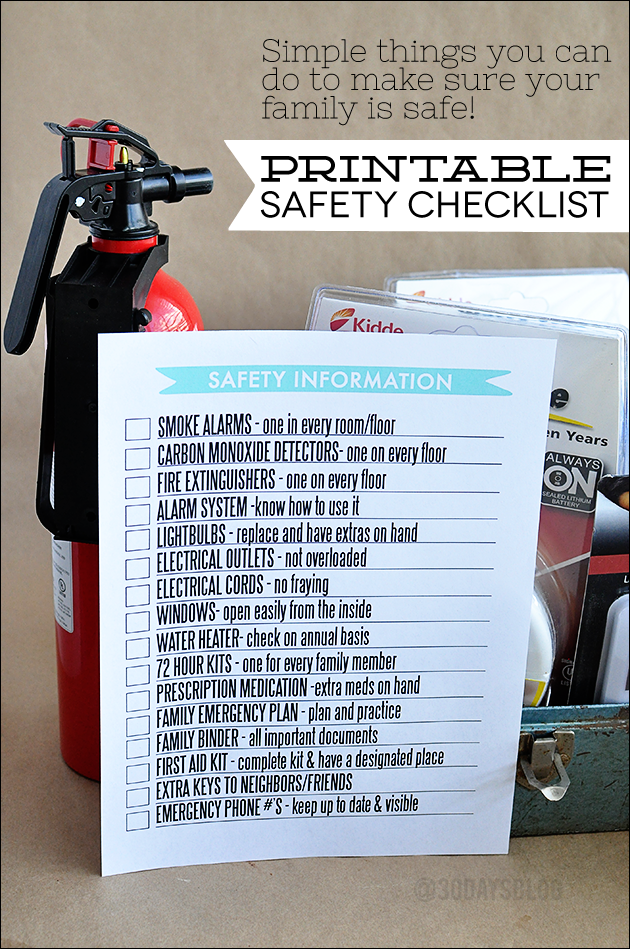 Fire Safety First Printable for your Family Binder