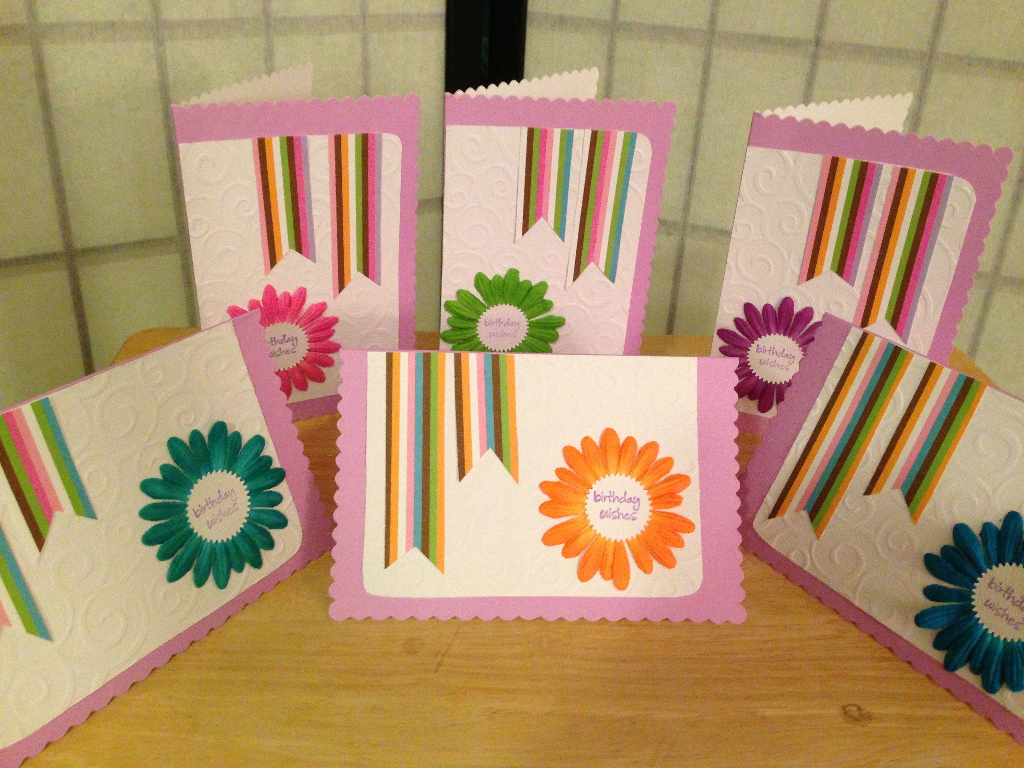 birthday card set  homemade cards birthday cards card set