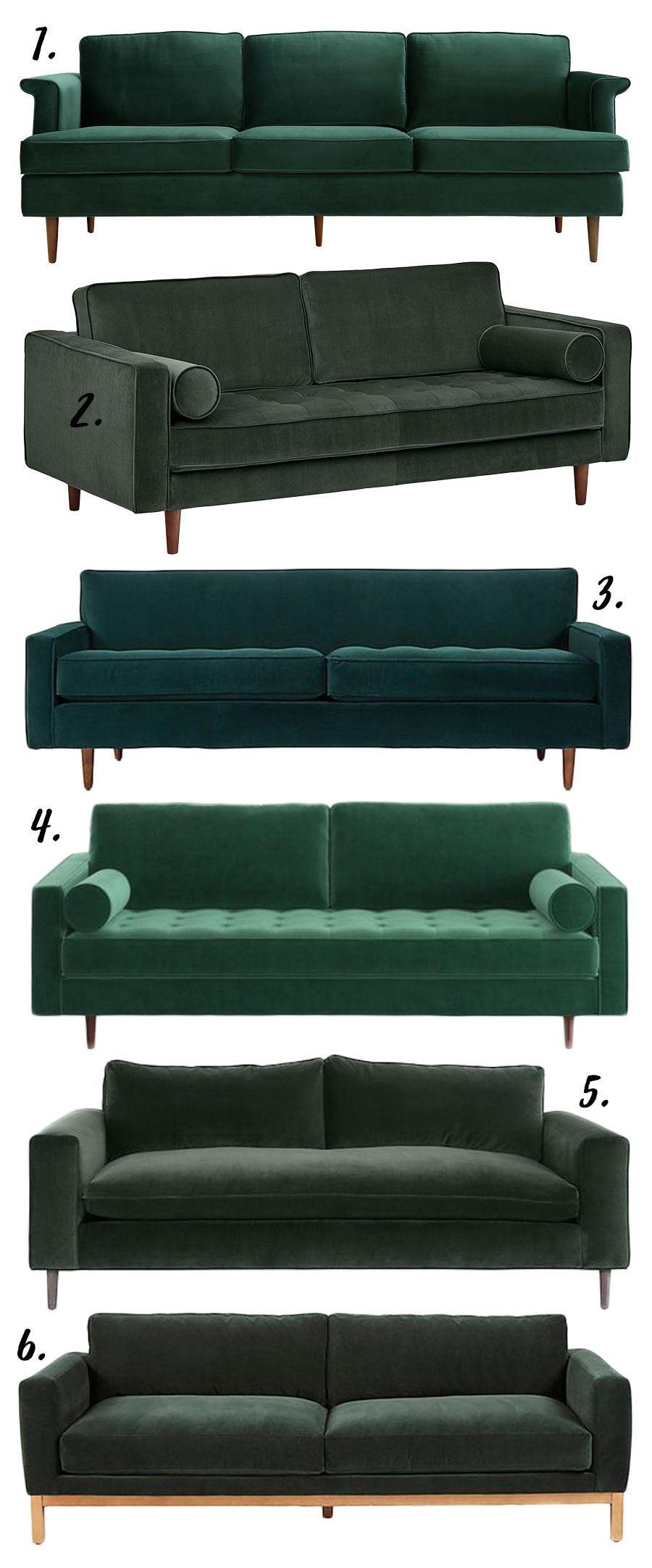 Living Room Ideas Bohemian - BOHO STYLE THE GREEN VELVET ...