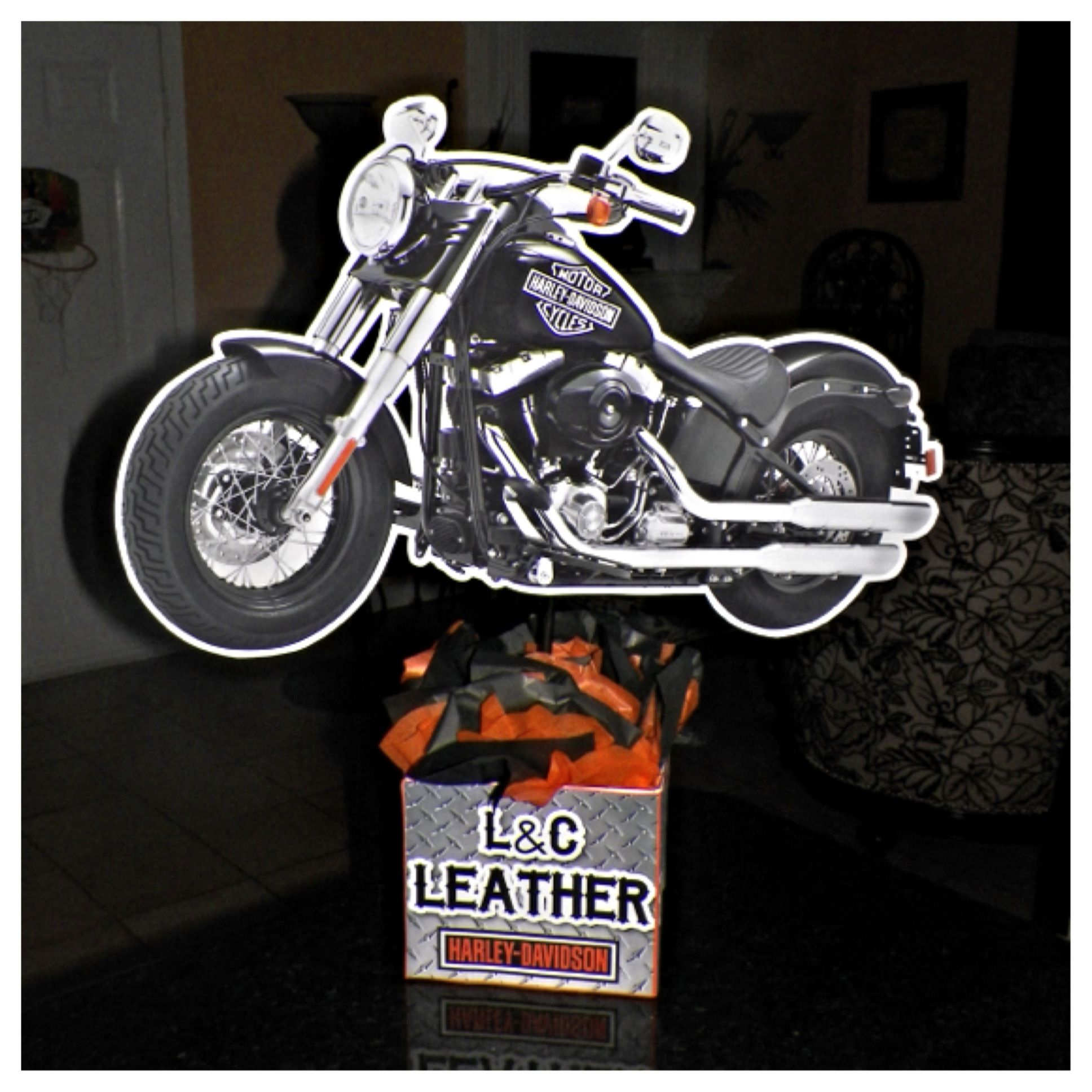Harley Davidson Party Decorations Harley Davidson Motorcycle Birthday Party Centerpiece