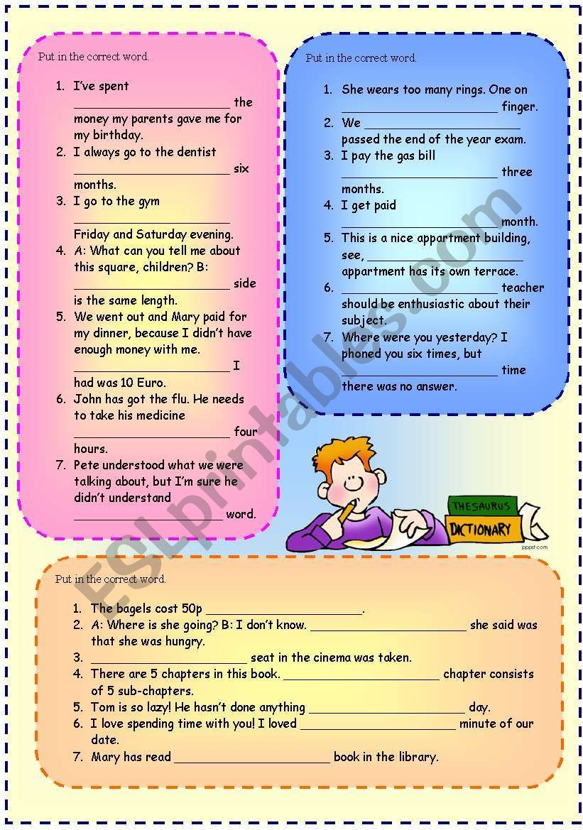 All Every Each Worksheet Worksheets Grammar Worksheets Esl Worksheets [ 1169 x 821 Pixel ]