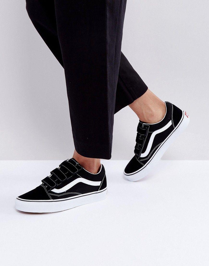zapatillas vans velcro mujer