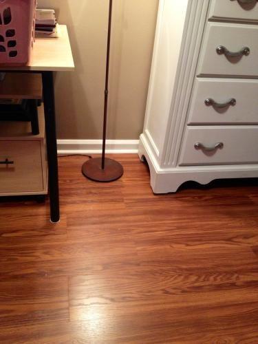 Flooring Option 3  Pergo Presto Gunstock Oak 8 Mm Thickness X 7 5/. Basement  ...