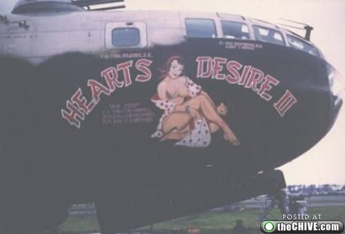 1940-airforce-bomber-nose-art-hearts-desire II