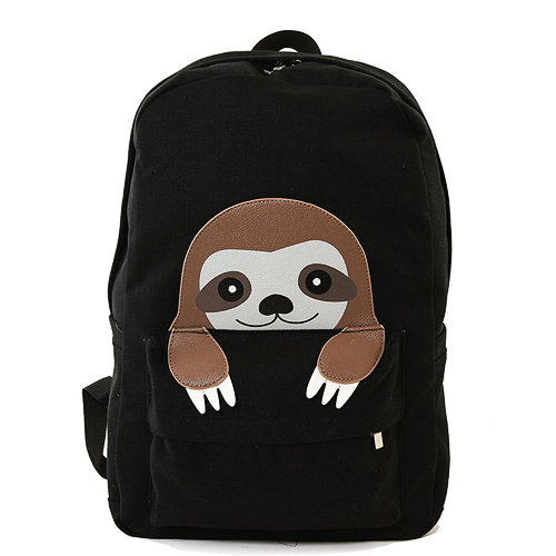 498bba1aea95 Live slow, die whenever! This Peeking Sloth Backpack is made from ...