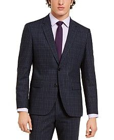 HUGO Men's Modern-Fit Medium Gray Stripe Suit Separates & Reviews - Suits & Tuxedos - Men - Macy's