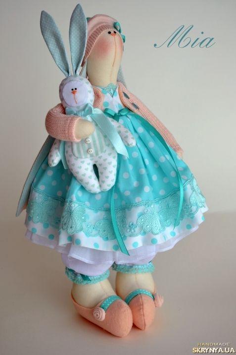 Текстильная весенняя зайка Mia