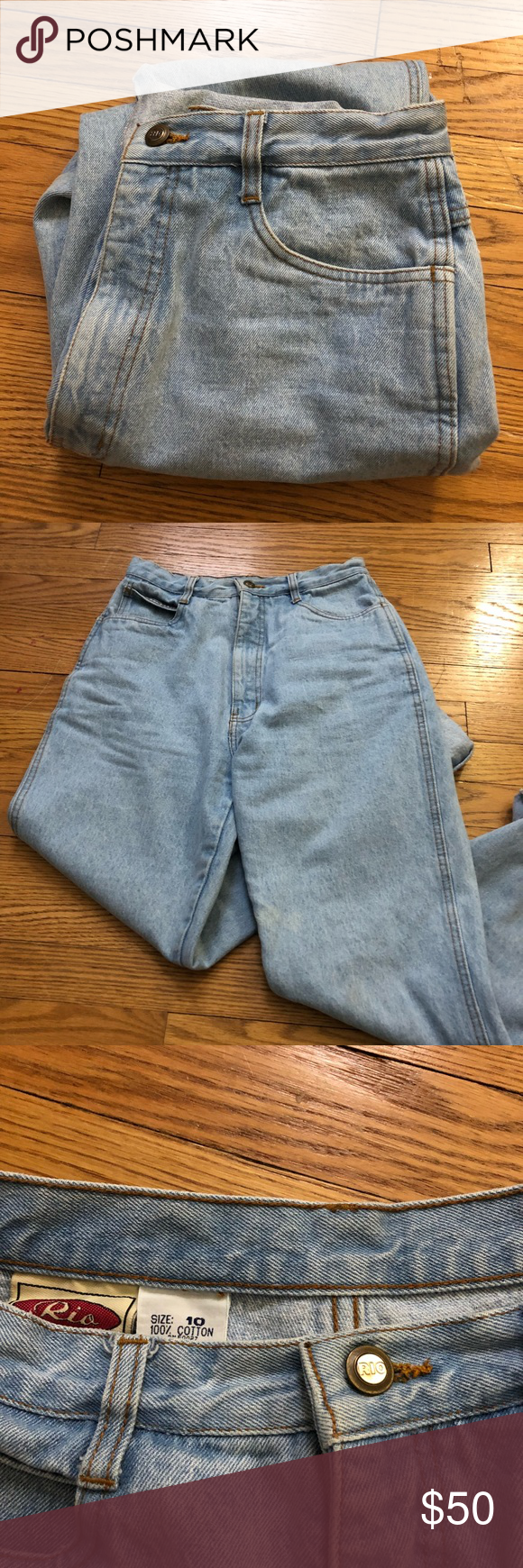 Vintage Rio Mom Jeans Light Wash High Waisted Rio Mom Jeans Vintage But Look