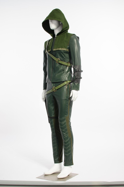 Green Arrow Cosplay Costume Oliver Queen Jakcket Green