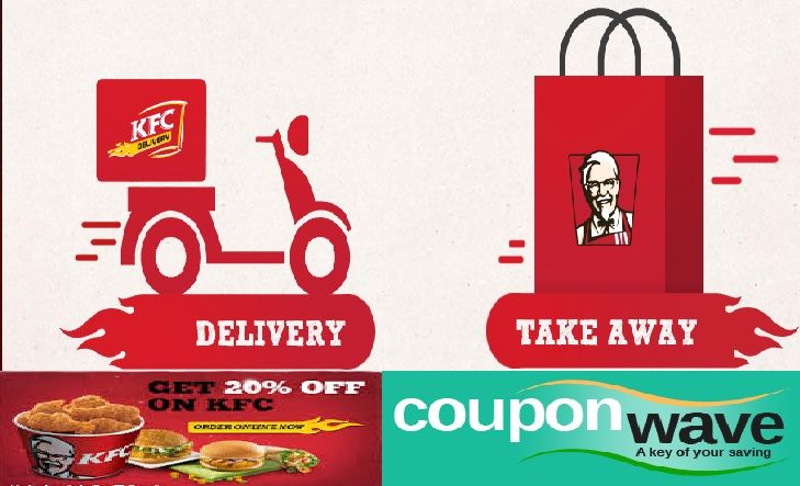 Get 20% OFF on Online Orders.   KFC provide various kinds of Yummy foods for you with various Discounts coupons.Now KFC have 306 restaurants across more than 80 cities serving around 12 million customers each day and will have 500 restaurants by 2015 in India.Get 20% OFF on Online Orders.This Offer valid on online orders on Rs. 350 and above only.