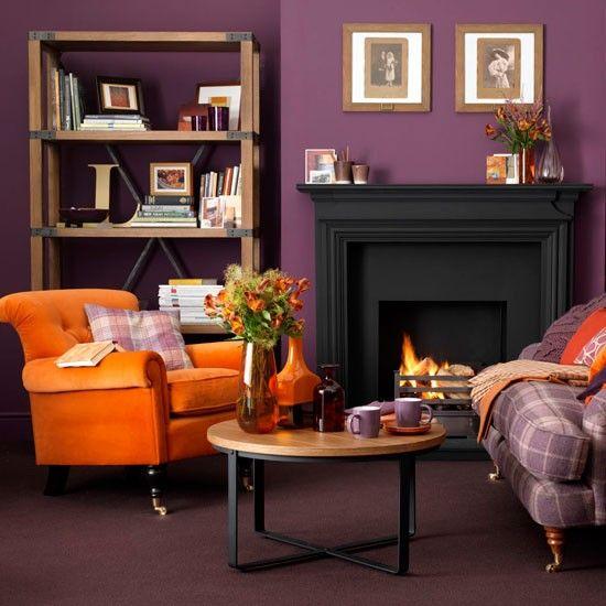 design-décoration-salon-rétro-couleur-prune-accents-oranges.jpg ...