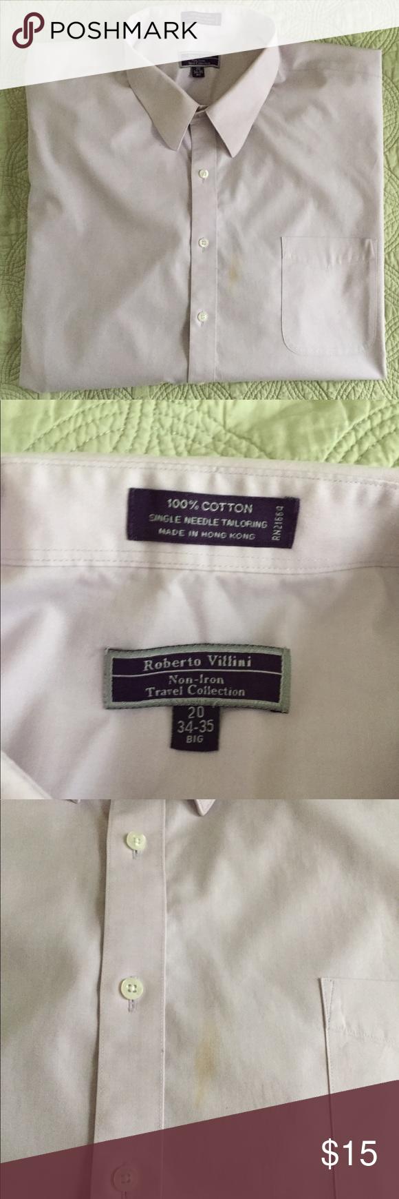 20 34 35 Big Roberto Villini Dress Shirt Lila Color No Iron