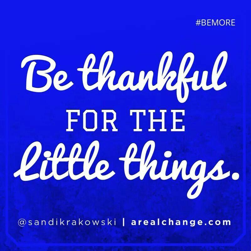 Be thankful ☝