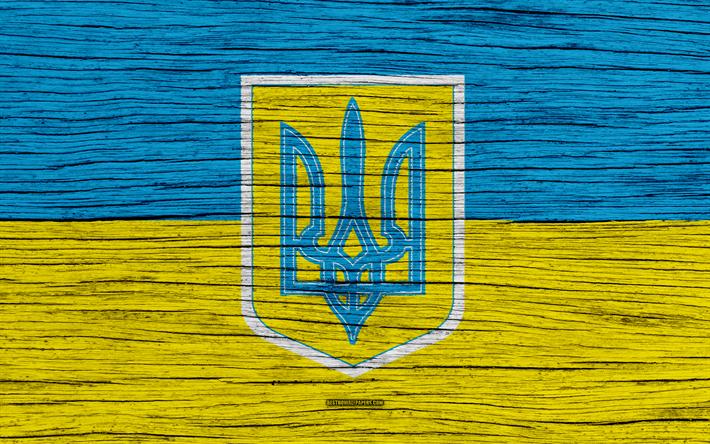 Download Wallpapers Ukrainian Flag Emblem Of Ukraine 4k Flag Of