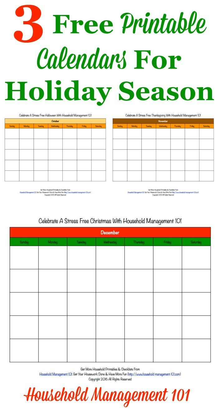 Free Printable Holiday Calendars 3 Months Of Calendars For Stress Free Holidays Challenge Stress Free Holidays Holiday Calendar Printable Holiday Calendar