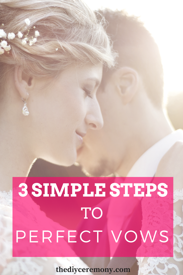 How To Write Your Wedding Vows: 3 Simple Steps | Wedding vows ...
