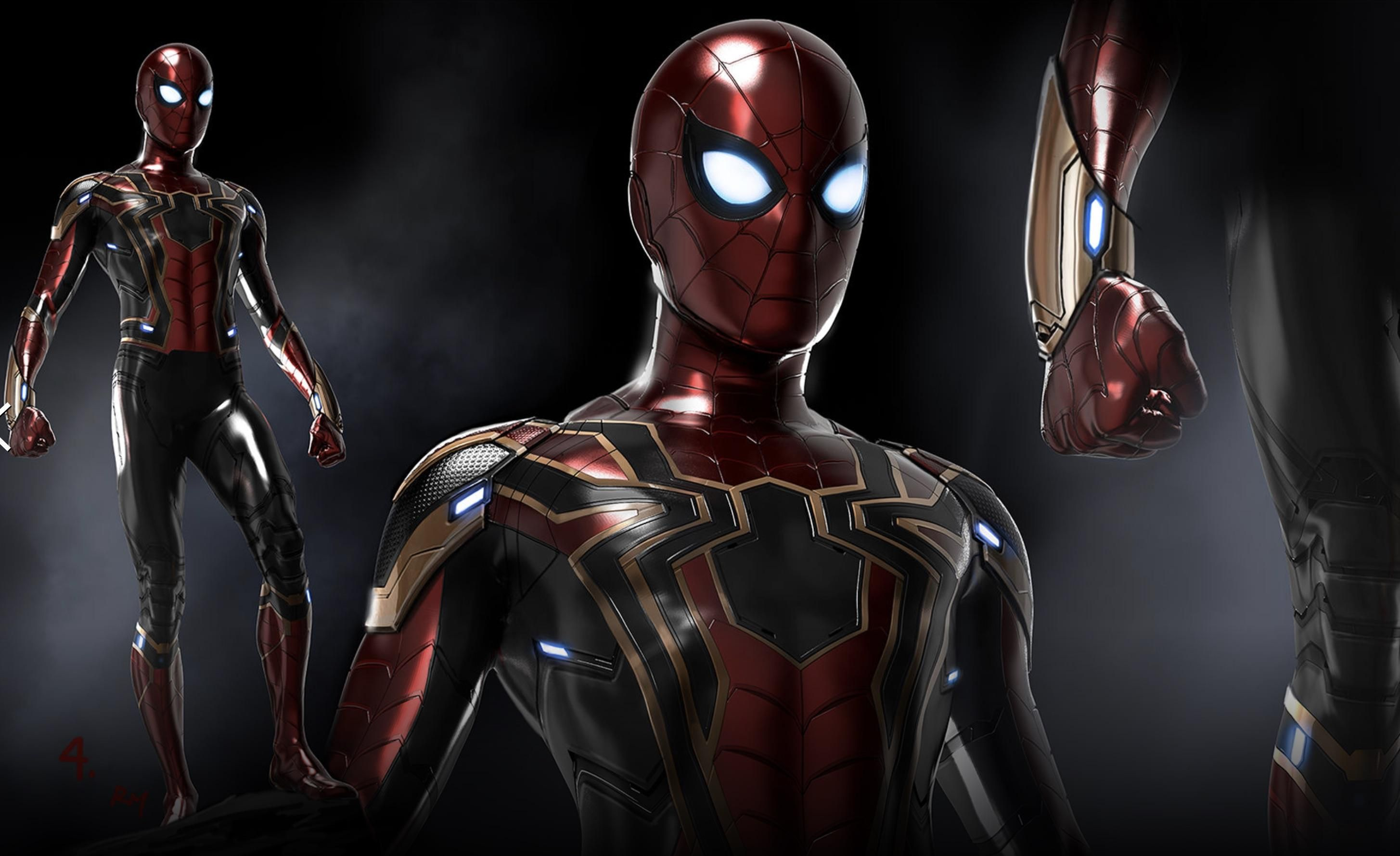 More Infinity War Concept Art Those Web Shooters Iron Spider