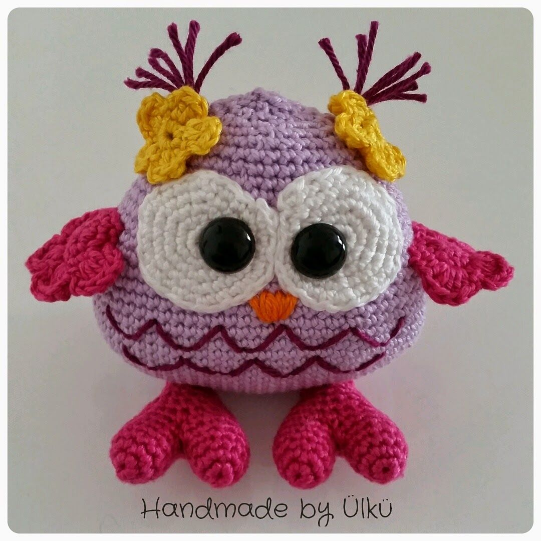 Amigurumi Baby Eule / Baby Owl / Yavru Baykuş | Eule, Häkeltiere und ...