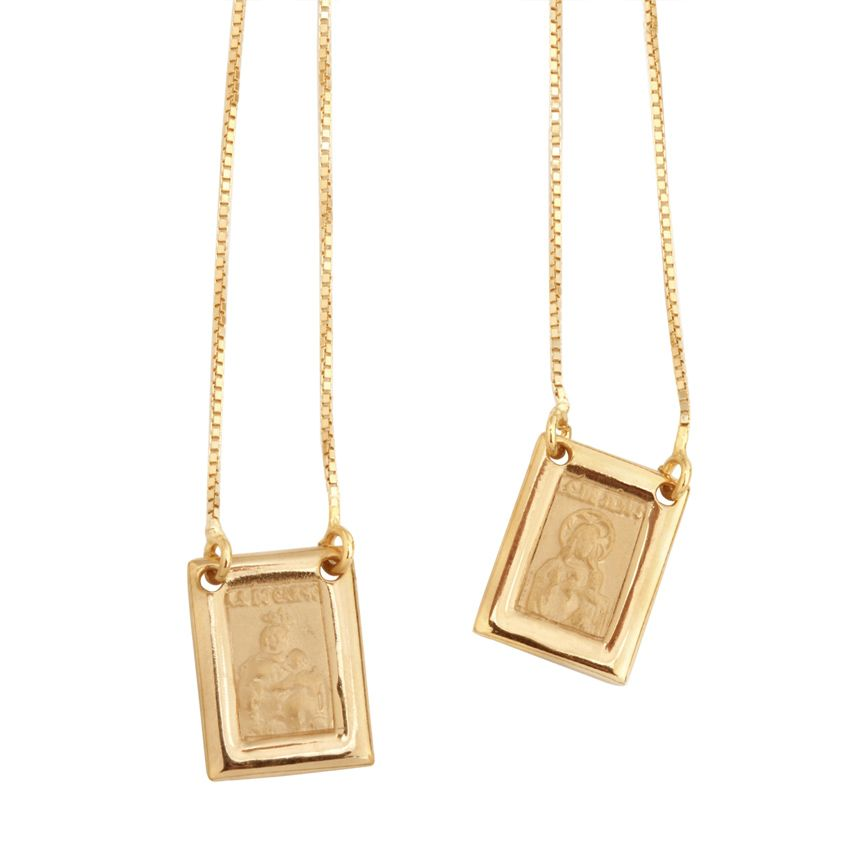 Gold Scapular Necklace: Beautiful Scapular Necklace From Vika.
