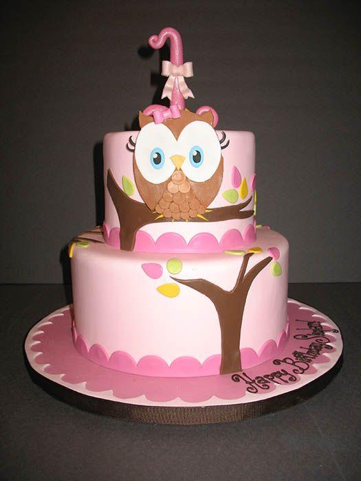 Girls Birthday Cakes Owl Cake Cakes By Ruthie Cakes Cupcakes
