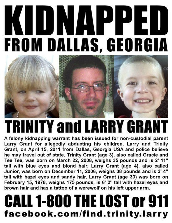 Trinity and Larry Grant Dallas, Georgia Felony kidnapping | Missing