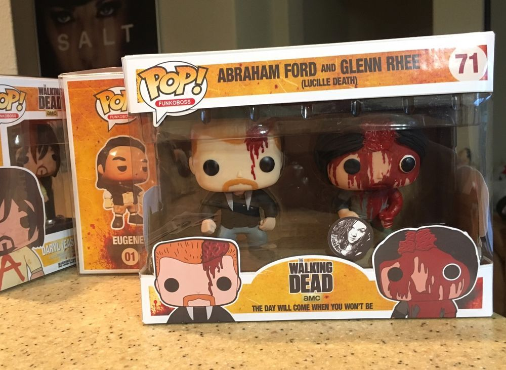Custom Funko Funko Pop Walking Dead Glenn And Abraham Two