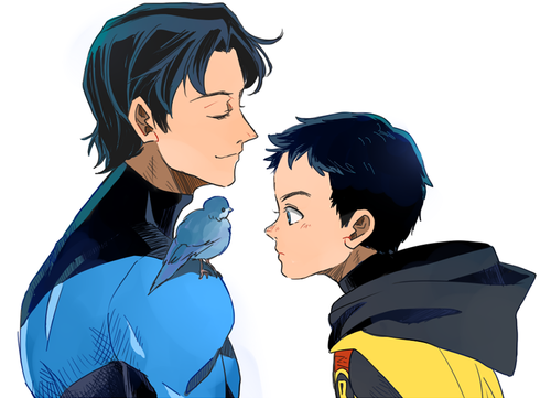 DCU - Dick Grayson x Damian Wayne - DickDamian   batfamily