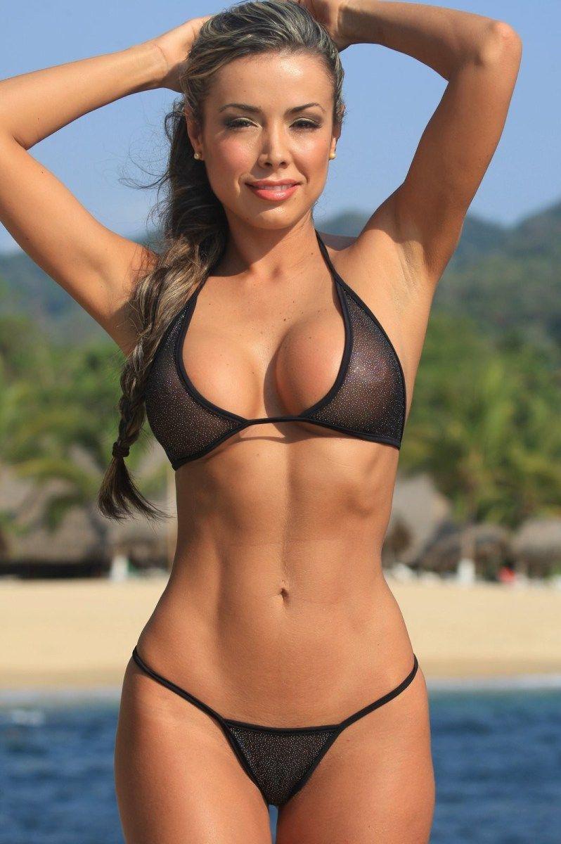 String bikini thumbs