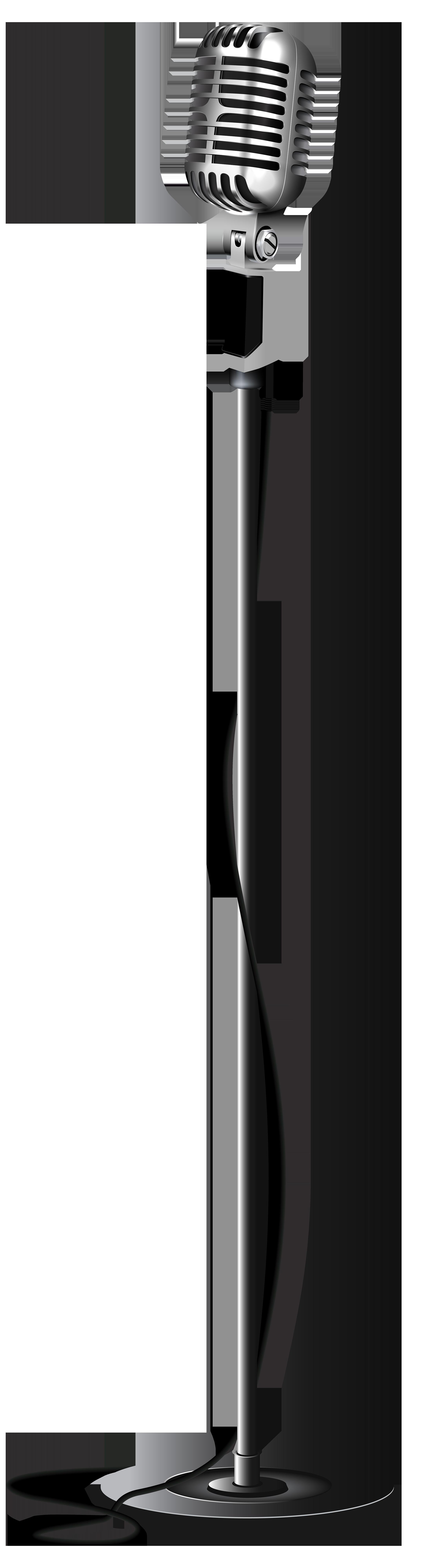 Retro Microphone PNG Transparent Clip Art Image Clip art