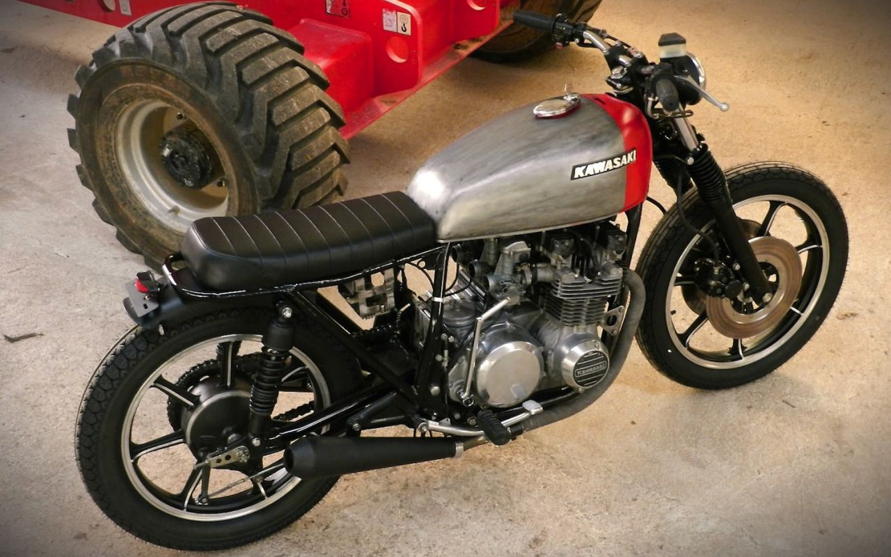 kawasaki z650 brat style by mvill motorcycles bratstyle motos