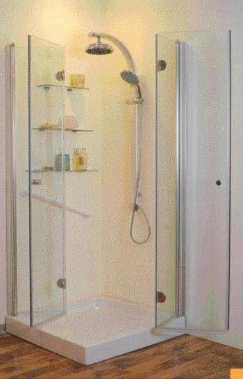 Corner Folding Double Shower Door Frameless Bifold Shower Doors Bifold Shower Door Shower Doors