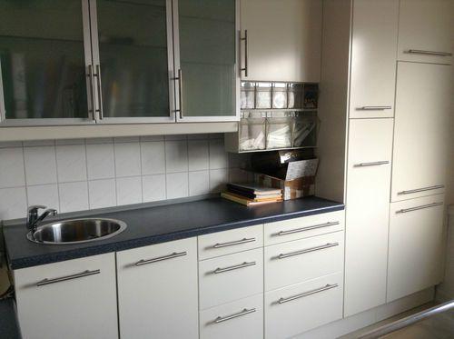 IKEA Küchenschränke Faktum Fronten weiß und Asvik 352 Euro ...