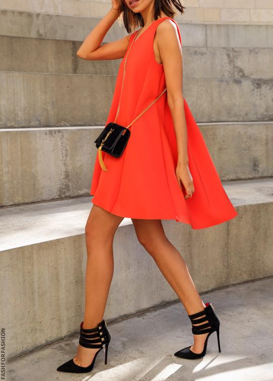 58bf80721ec5 Short orange dress