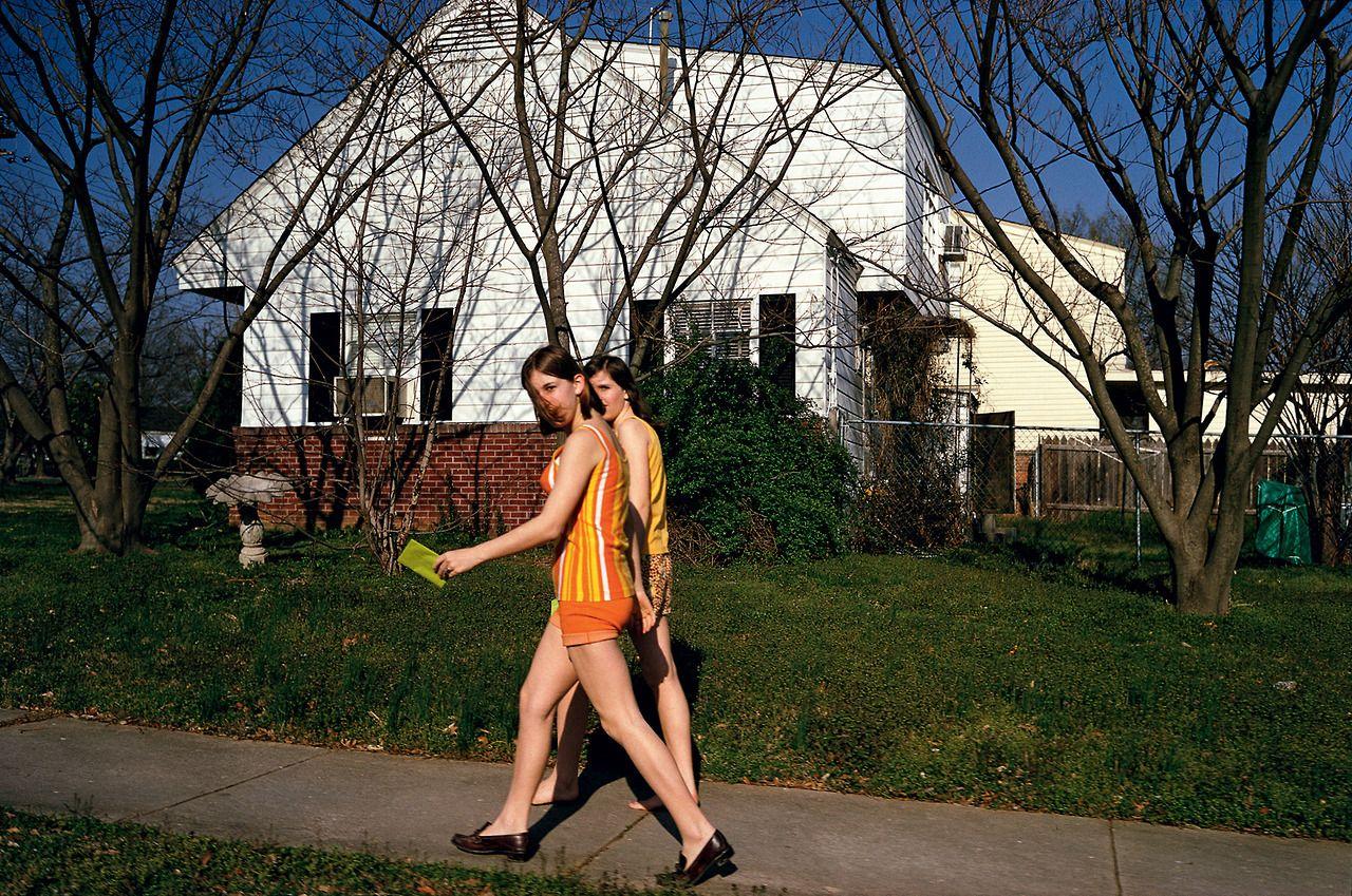 Two Girls Walking by William Eggleston