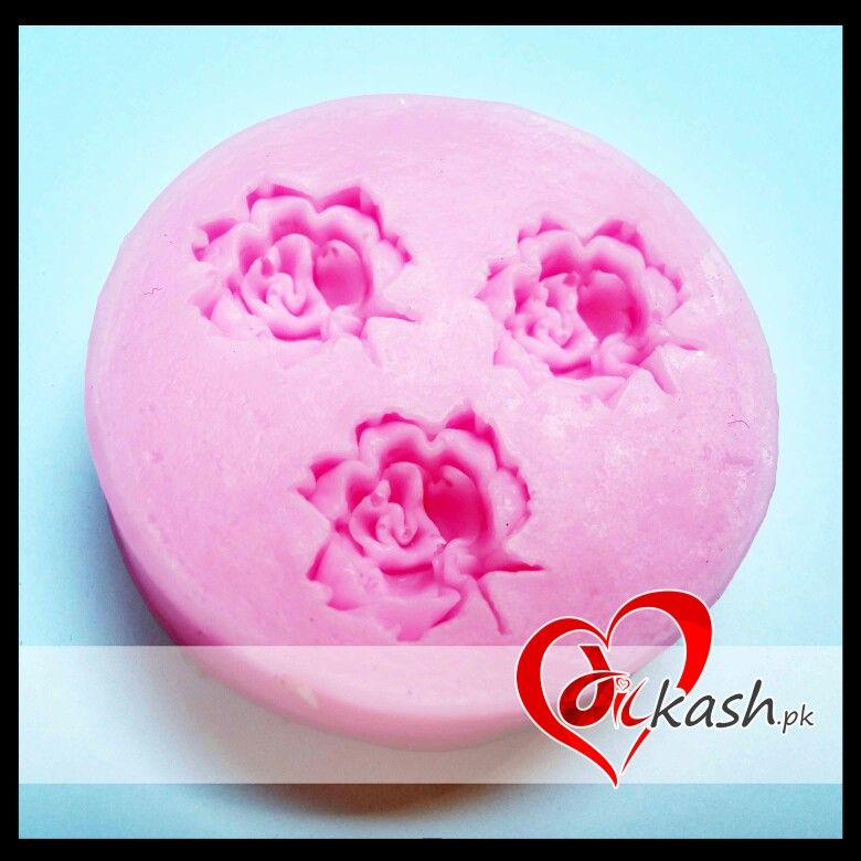( 3 #Flower #Silicone #Molds ) Size: 4.5 cm. For order or info: http://www.dilkash.pk/shop/3-flower-silicone-molds/