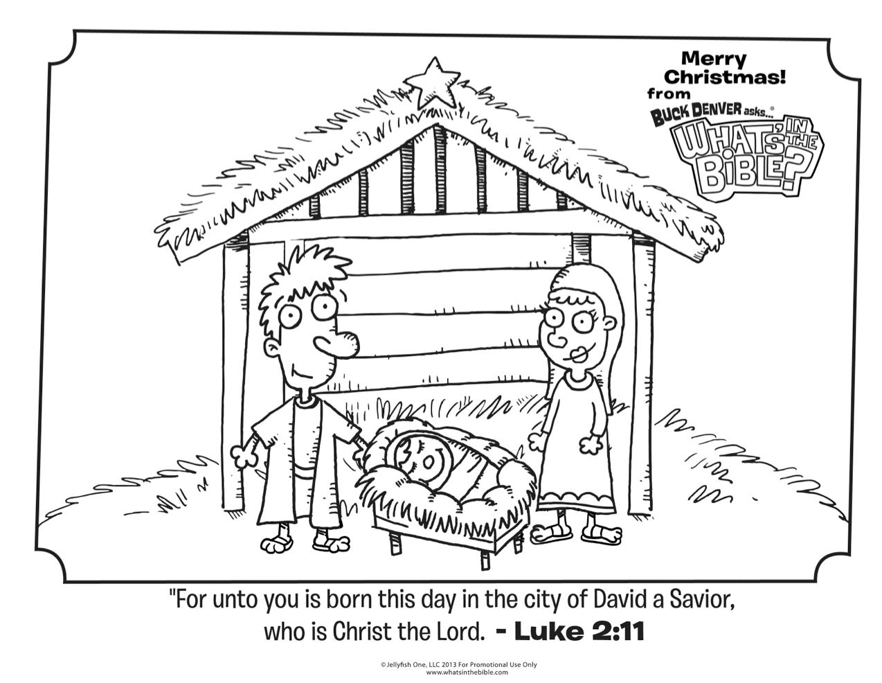 Luke 2 11 Christmas Coloring Page