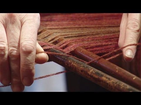 How To Set Up An Old Fashioned Loom | Weaving 2 | Loom ...
