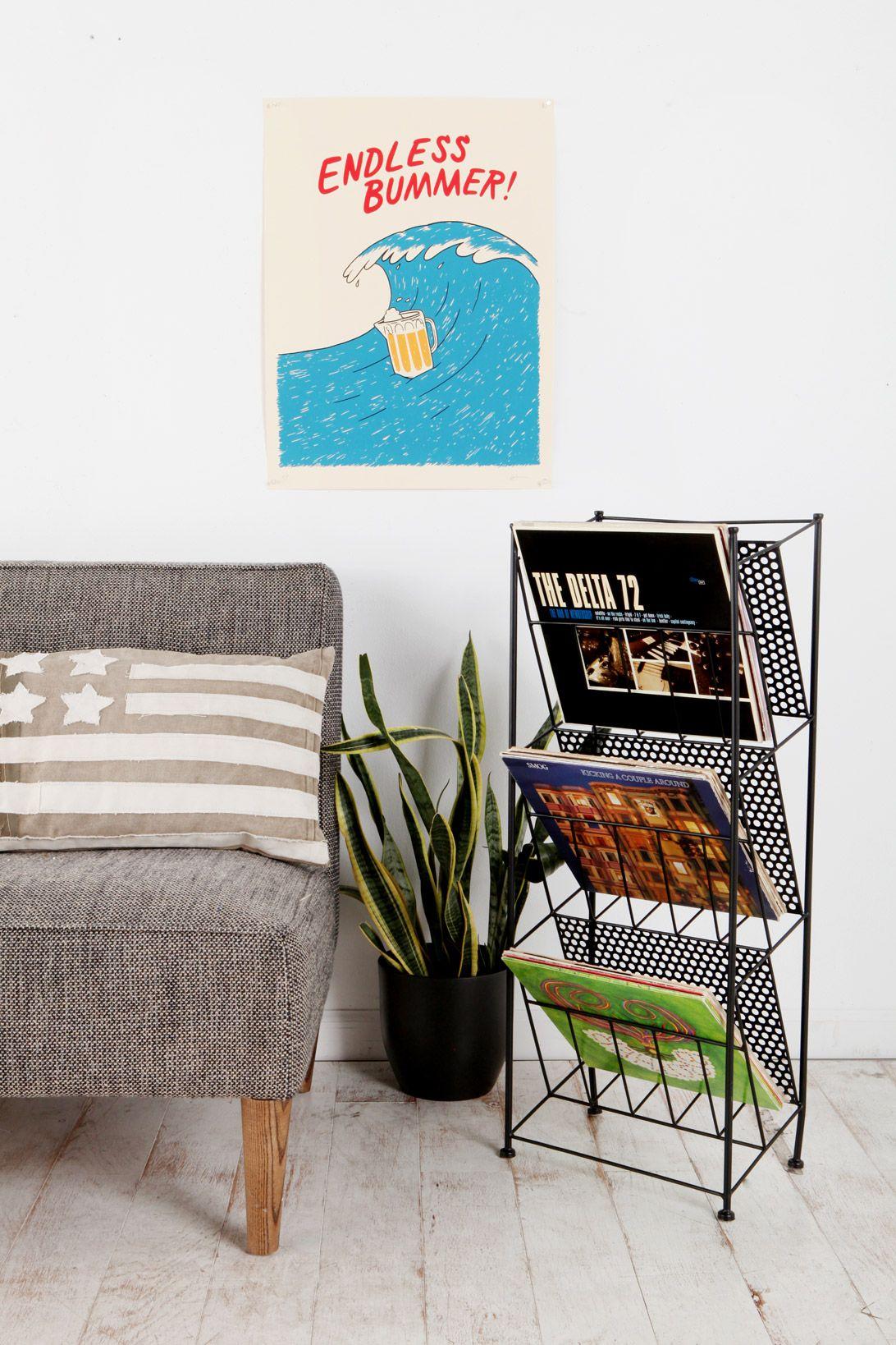 Black magazine rack at urban outfitters inside houses pinterest